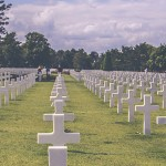 Military Cemetery with Tombstones