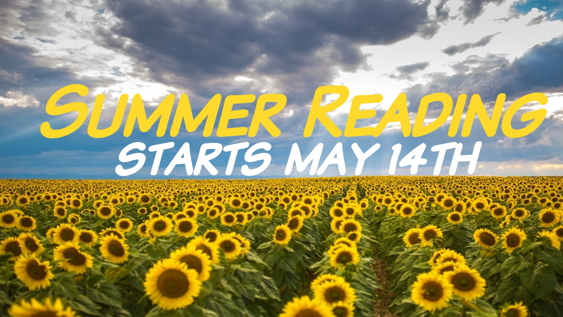 Summer Reading Starts May 14th