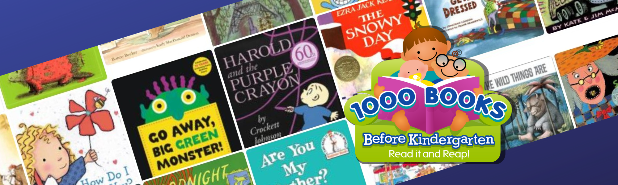 learn about 1000 books before kindergarten